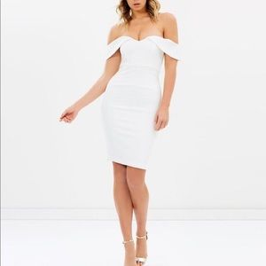 Bardot White Snake Print Eva Dress Textured Size 4